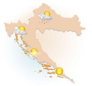 Počasie Chorvátsko